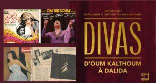 Expositions Divas D'Oum Kalthoum à Dalida du 3 mars au 21 juillet 2021 à l'Institut du Monde Arabe