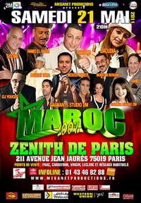 Concert 100% Maroc le 21 mai au Zénith de Paris