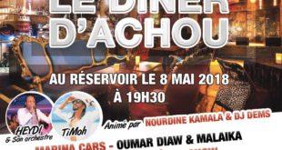 Achou Events présente le Diner d'Achou le 8 mai 2018 au Réservoir Paris 11ème