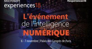 Microsoft Expérience 18 du 6 au 7 novembre 2018